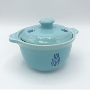 Vintage Sugar Bowl / Crock • Cronin Blue Tulip